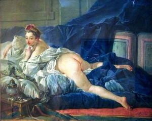 Peinture rococo réalisée par François Boucher en 1745
